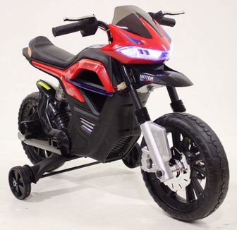 RiverToys МОТО JT5158. Детский мотоцикл с имитацией ручных тормозов.