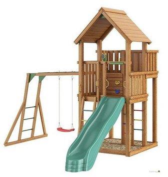 Jungle Palace + рукоход с качелей. Уличный игровой комплекс для детей.