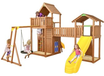 Jungle Grand Palace 4 (Palace+Playhouse+Cottage+Rock+рукоход с гнездом).