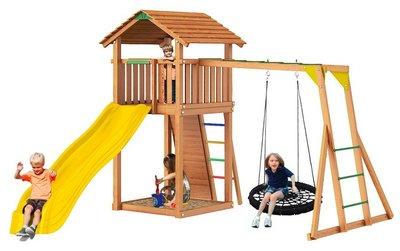 Jungle Cottage+Rock +рукоход с гнездом. Детский игровой городок.