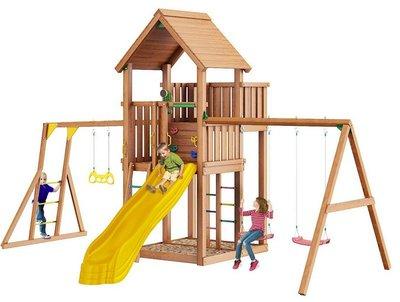 Jungle Palace + Swing X'tra + Рукоход. Деревянный игровой комплекс.
