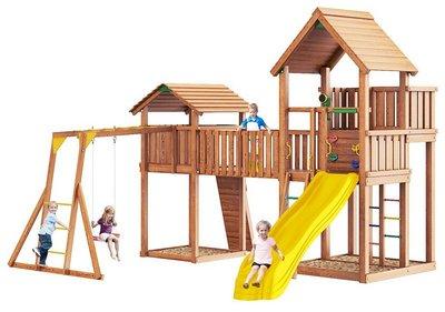 Jungle Palace + Jungle Cottage + жесткий мост + Rock + Рукоход с сидушкой. Игровой комплекс.