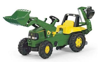 Rolly Toys Junior John Deere 811076. Педальный трактор с багажным отсеком.