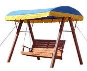Деревянные качели-диван для дачи Kampfer Talking.