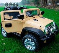 Детский электромобиль-джип Kids Cars J235 с кожаным сиденьем и резиновым колесами.