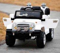 Детский электромобиль-джип Kids Cars J245 с кожаным сиденьем и резиновым колесами.