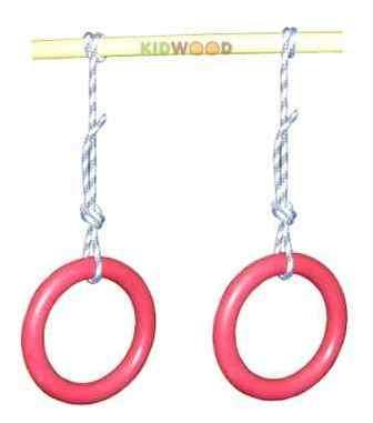 Кольца гимнастические пластиковые Kidwood.