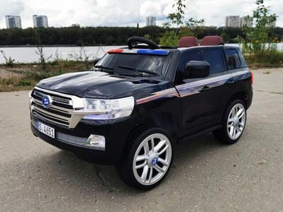 Джип Land Cruiser Police YBH 4651. Детский автомобиль на резиновых колесах.