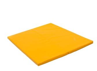 """Мат № 14 """"PERFETTO SPORT"""" (100 х 123 х 4) складной желтый."""