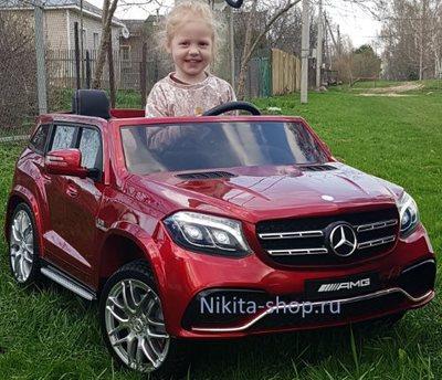 Детский двухместный электромобиль MERCEDES-BENZ-GLS63-AMG 4х4 на резиновых колесах