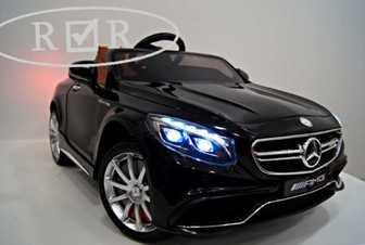 Лицензионный электромобиль Mercedes-Benz S63 AMG на резиновых колесах.