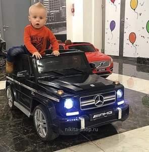 Детский электромобиль DMD-G63 Mercedes-Benz AMG 12V(открывающиеся дверки, резиновые колеса, амортизация).