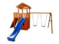 Детская площадка Можга Спортивный городок 5 с качелями,домиком и балконом