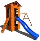 Детская площадка Можга Спортивный городок 8 c узким скалодромом