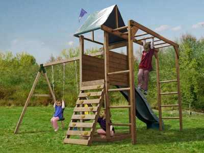 Детский спортивно-игровой комплекс для дачи «Монкей Форт Вудлэнд 2».