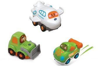 VTECH Набор 3в1: самолет/бульдозер/гонка Бип-Бип Toot-Toot Drivers.