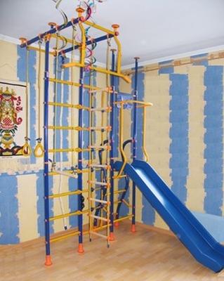 """Детский спортивный комплекс """"Веселый Непоседа"""" №10 с горкой и сеткой для лазания"""