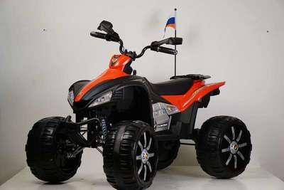 Детский квадроцикл P555PP на резиновых колесах.