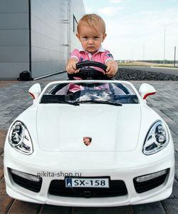 Porsche Panamera A444AA VIP. Детский электромобиль на резиновых колесах с подсветкой.
