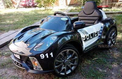 Porsche 911 Police Б005OС. Детский автомобиль на резиновых колесах.
