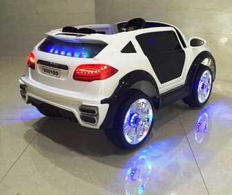Детский джип Porsche Caynne Turbo O 001 OO VIP на резиновых колесах, амортизаторы, сиденье кожа.