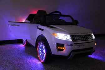 Детский джип Range Rover A 111AA VIP на резиновых колесах.