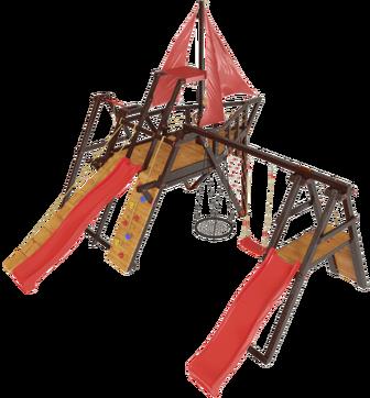 Детская спортивно-игровая деревянная площадка-корабль Самсон «Каравелла».