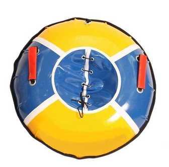 """Санки надувные """"Тюбинг RT 7"""" с пластиковым дном верх-ПВХ диаметр 75 см"""