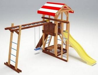 """Детская деревянная площадка """"Савушка 10"""" для дачи"""
