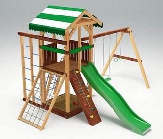 Деревянная детская площадка для дачи Савушка - 11