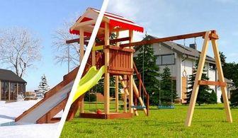 Савушка 4 сезона - 3. Детская площадка из дерева.