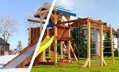 Савушка 4 сезона - 7. Детский деревянный городок для дачи.