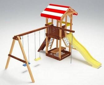 """Детский деревянный комплекс """"Савушка 9"""" для дачи"""
