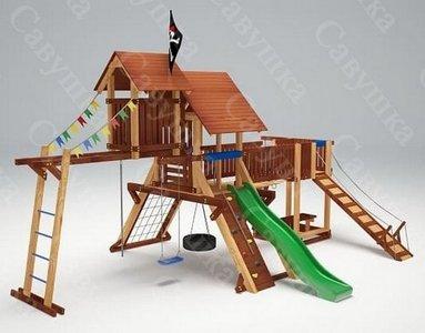 Савушка Lux - 12. Уличный детский деревянный комплекс.