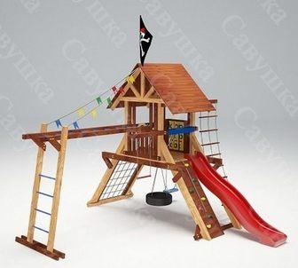 Савушка Lux - 1. Деревянный детский игровой комплекс.