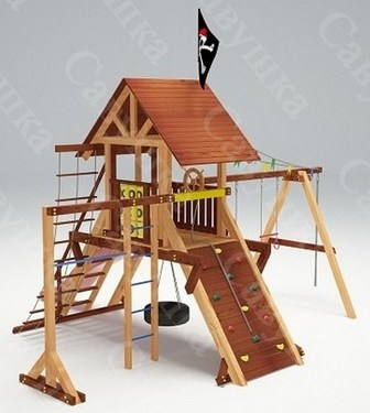 Савушка Lux - 3. Уличная деревянная детская площадка.