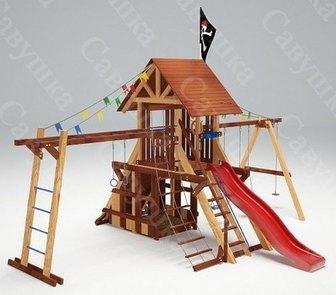 Савушка Lux - 4. Игровой деревянный комплекс для улицы.