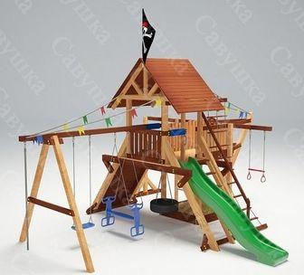 Савушка Lux - 6. Игровой деревянный комплекс для улицы.