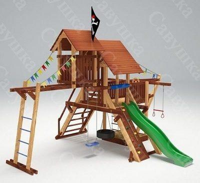 Савушка Lux - 7. Игровой деревянный комплекс для детей.