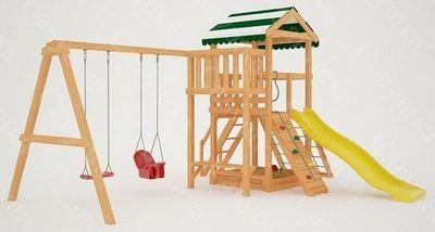 Савушка Мастер - 2. Детская площадка с горкой и сеткой-лазалкой.
