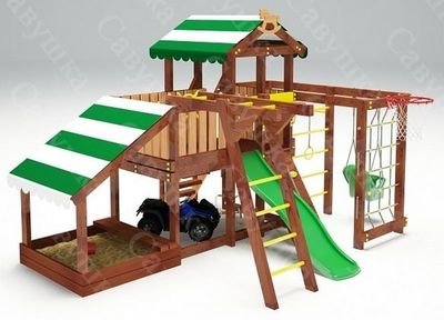 Савушка-Baby - 13 (Play). Площадка с песочницей и рукоходом.