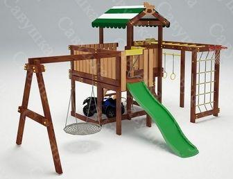 Савушка-Baby - 15 (Play). Игровая площадка с качелями Гнездо.