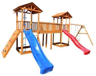Детская площадка Можга Спортивный  городок 6 с качелями и широким скалодромом