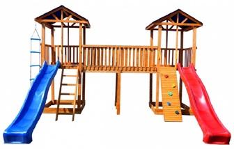 Детская площадка Можга Спортивный  городок 6 (Крыша Тент) с узким скалодромом