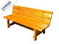 Деревянная скамейка со спинкой Самсон.