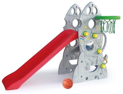 Горка Ракета + баскетбольное кольцо SL-18