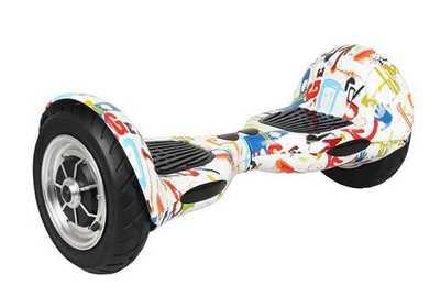Гироскутер Smart Balance Wheel SUV 10 дюймов Bluetooth, сумка, пульт (граффити)