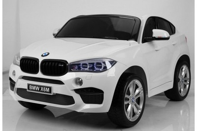 Детский электромобиль BMW X6 двухместный на резиновых колесах