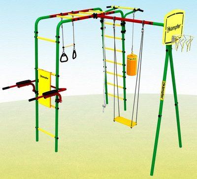 Kampfer Summer Games. Металлический детский спортивно-игровой комплекс.