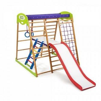 Детский спортивный комплекс для квартиры «Карамелька Plus 2»